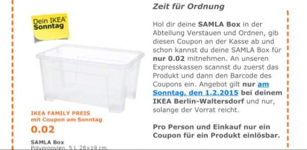 samla box bei ikea waltersdorf nur am 1 2. Black Bedroom Furniture Sets. Home Design Ideas