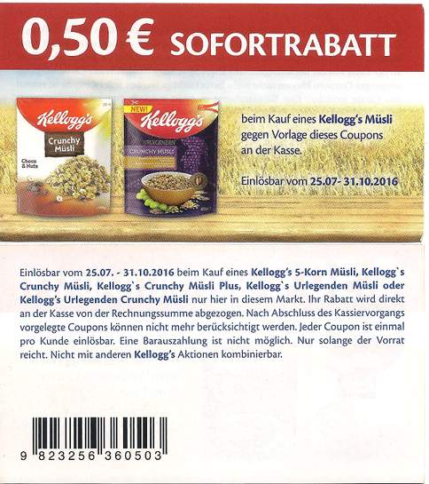 neuer coupon kelloggs m sli 0 50 sofortrabatt bundesweit update 15. Black Bedroom Furniture Sets. Home Design Ideas