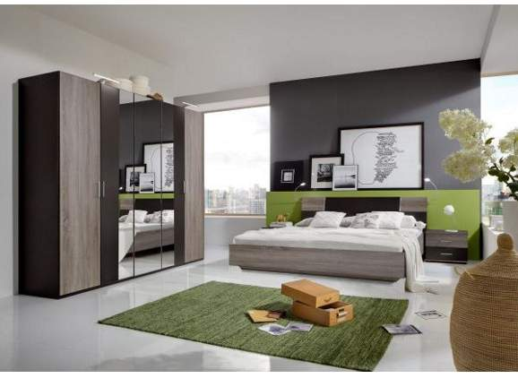 komplett schlafzimmer in eichenfarben f r 279 bei xxxl. Black Bedroom Furniture Sets. Home Design Ideas