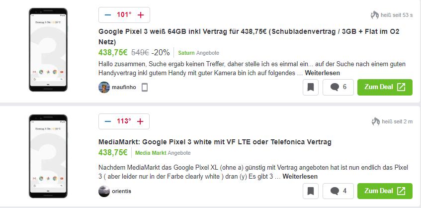 handyvertrag mit google pixel 2 xl