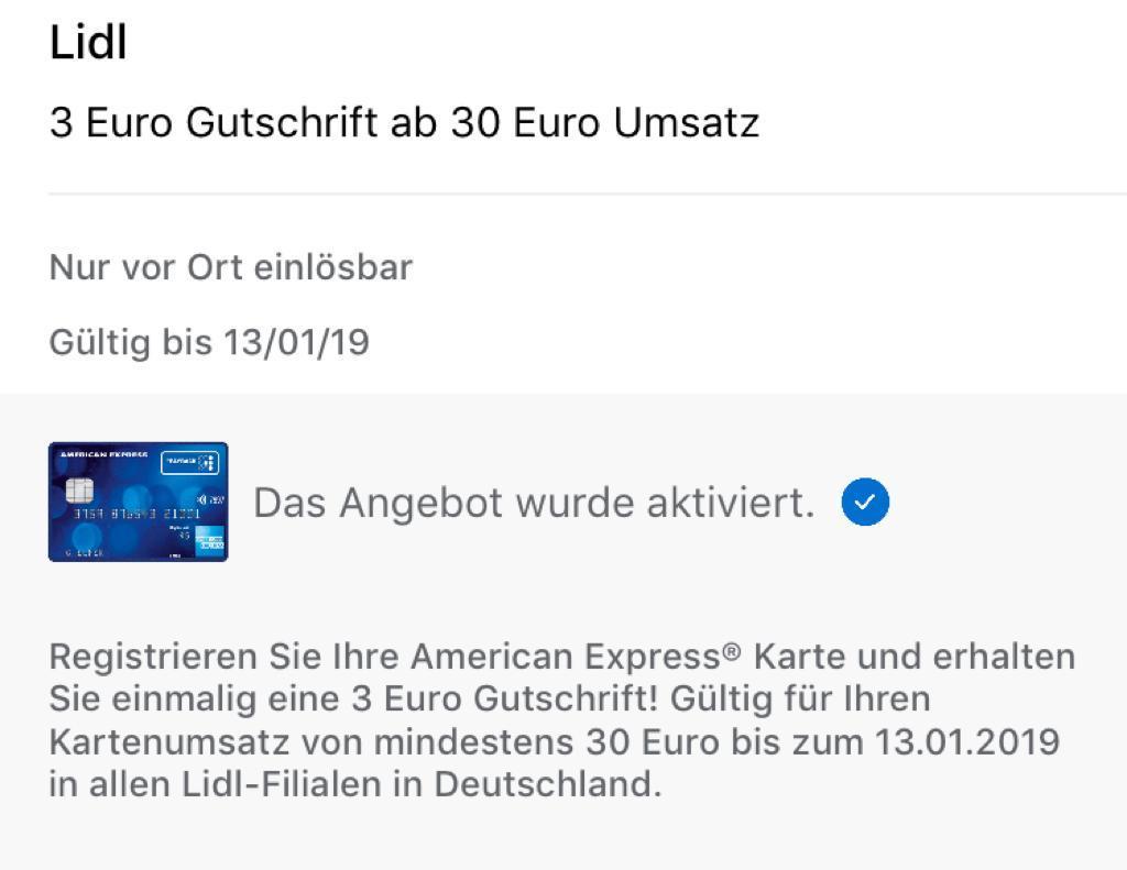 Lidl Bundesweit 3 Euro Gutschrift Ab Einem Umsatz Von 30 Euro Bei