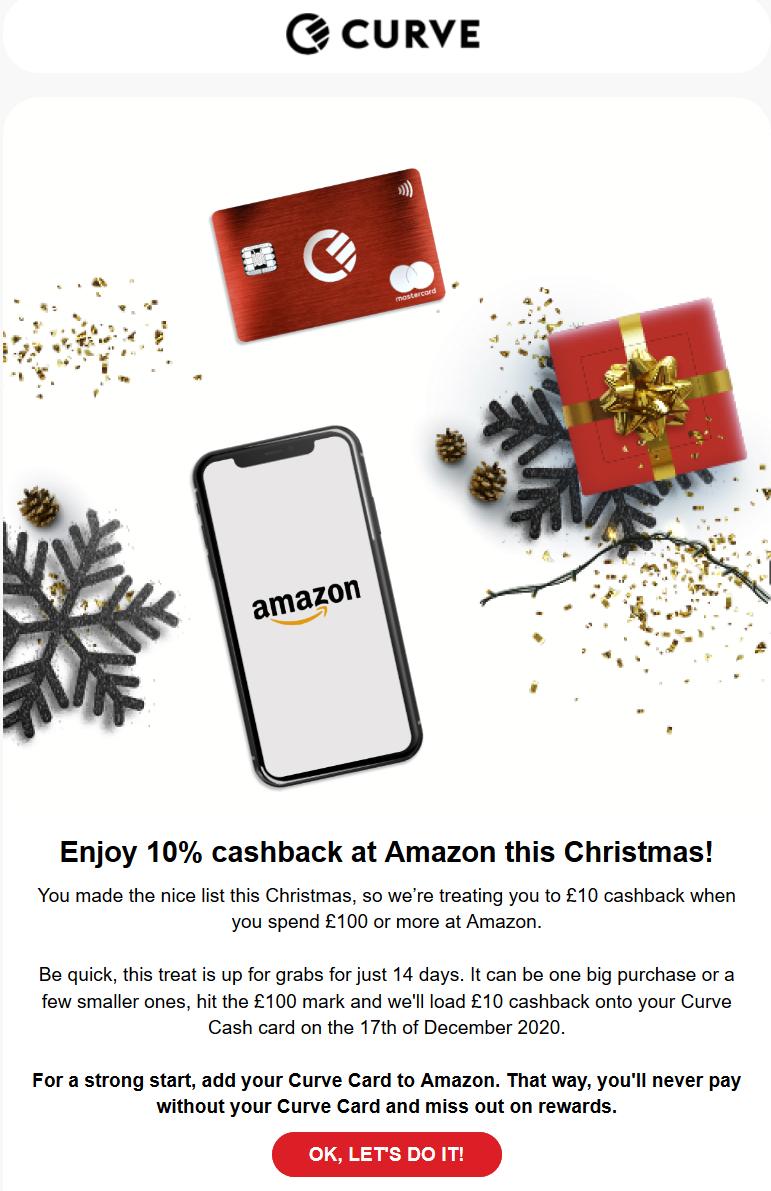 PERSONALISIERT) 8 Pfund Cashback für CURVE-Inhaber auf Amazon