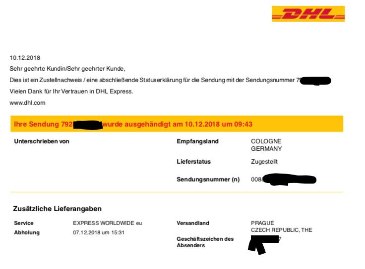dhl paket international sendungsnummer