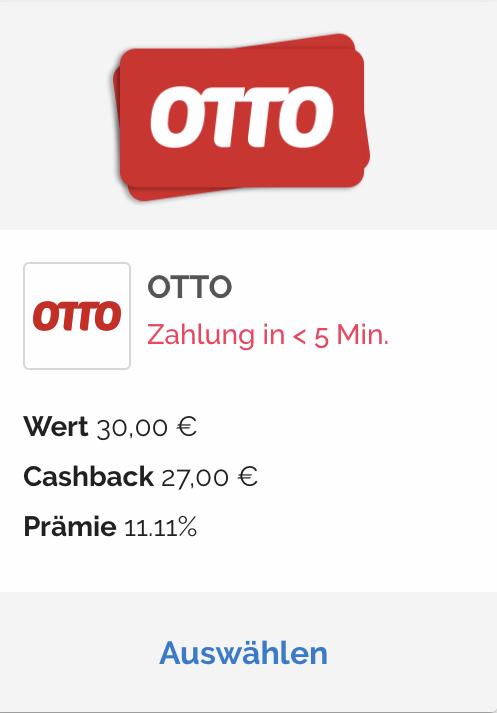15-fache Payback Punkte bei OTTO ab 03.06. - entspricht ca ...