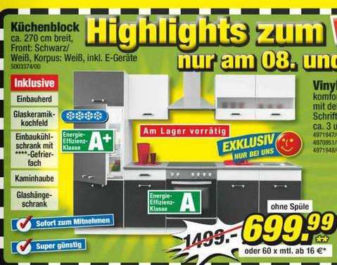 Poco küchenblock  POCO Offline - Küchenblock - 270 cm - inkl E-Geräte -699,99 ...