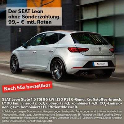 Seat Leon Style 1 5 Tsi 96 Kw 130 Ps 6 Gang Privatleasing