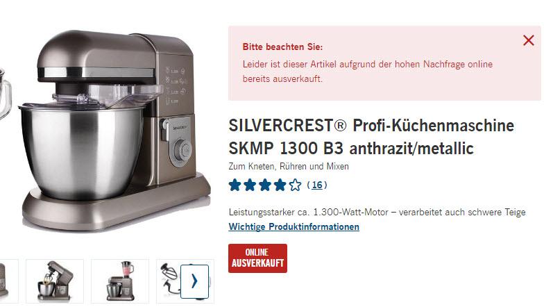 SILVERCREST Profi-Küchenmaschine SKMP 1300 B3 - 1300 Watt ...