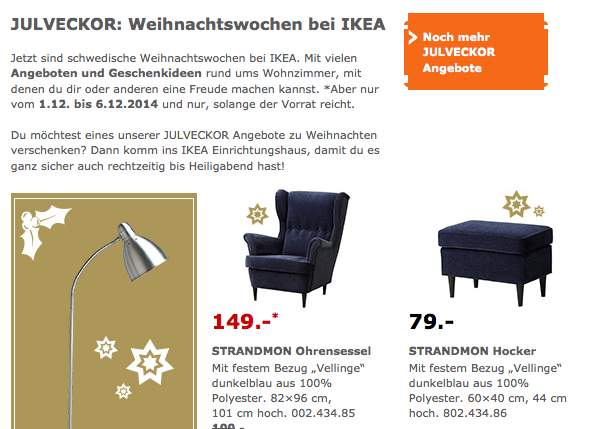 Ikea Strandmon Sessel Grau