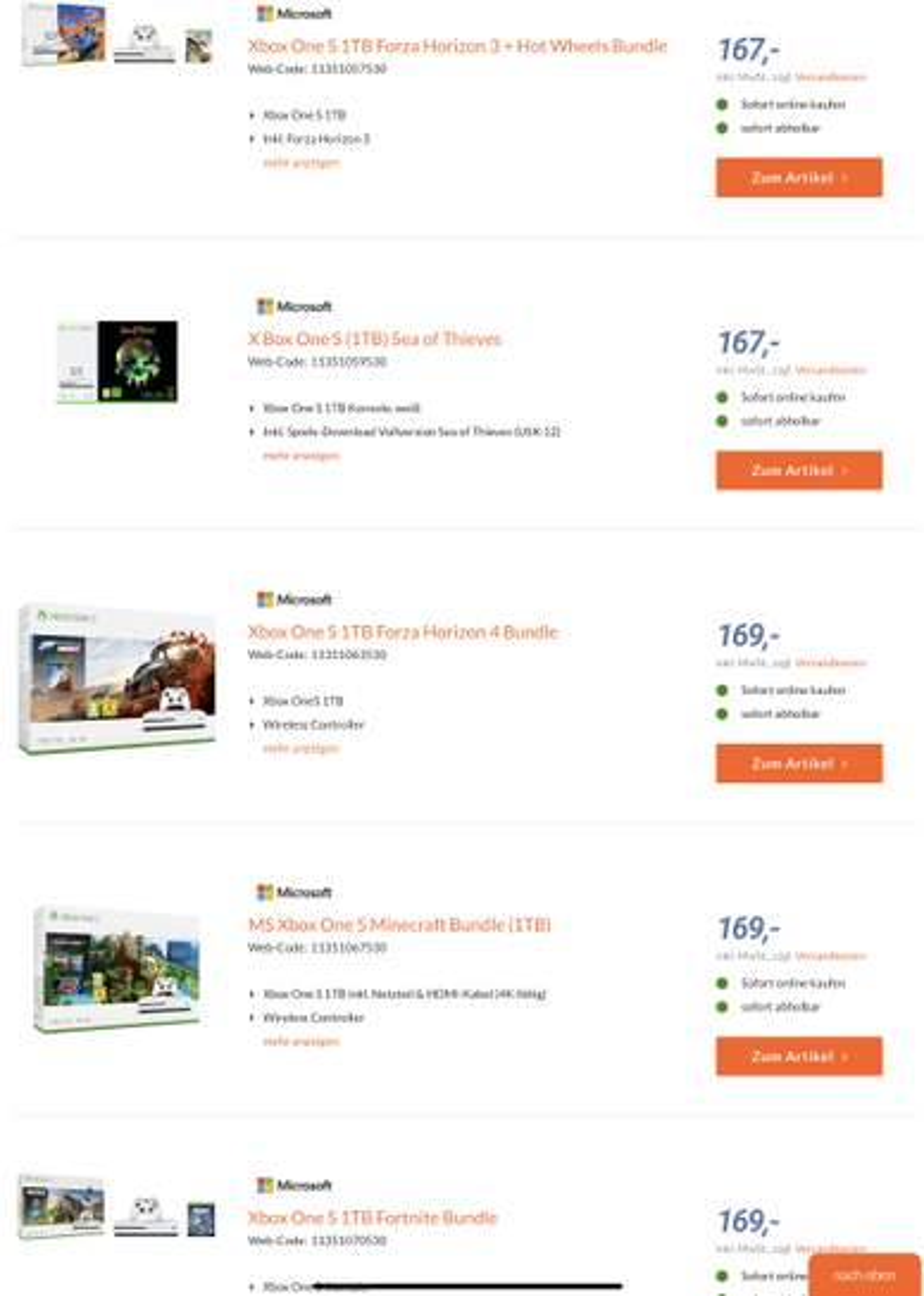 Xbox One S 1tb Bundles Battlefield V Oder Forza Horizon 4 Oder