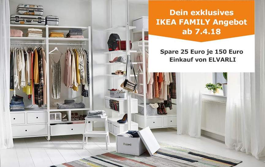ikea family aktion elvarli serie je 150 einkaufswert 25. Black Bedroom Furniture Sets. Home Design Ideas