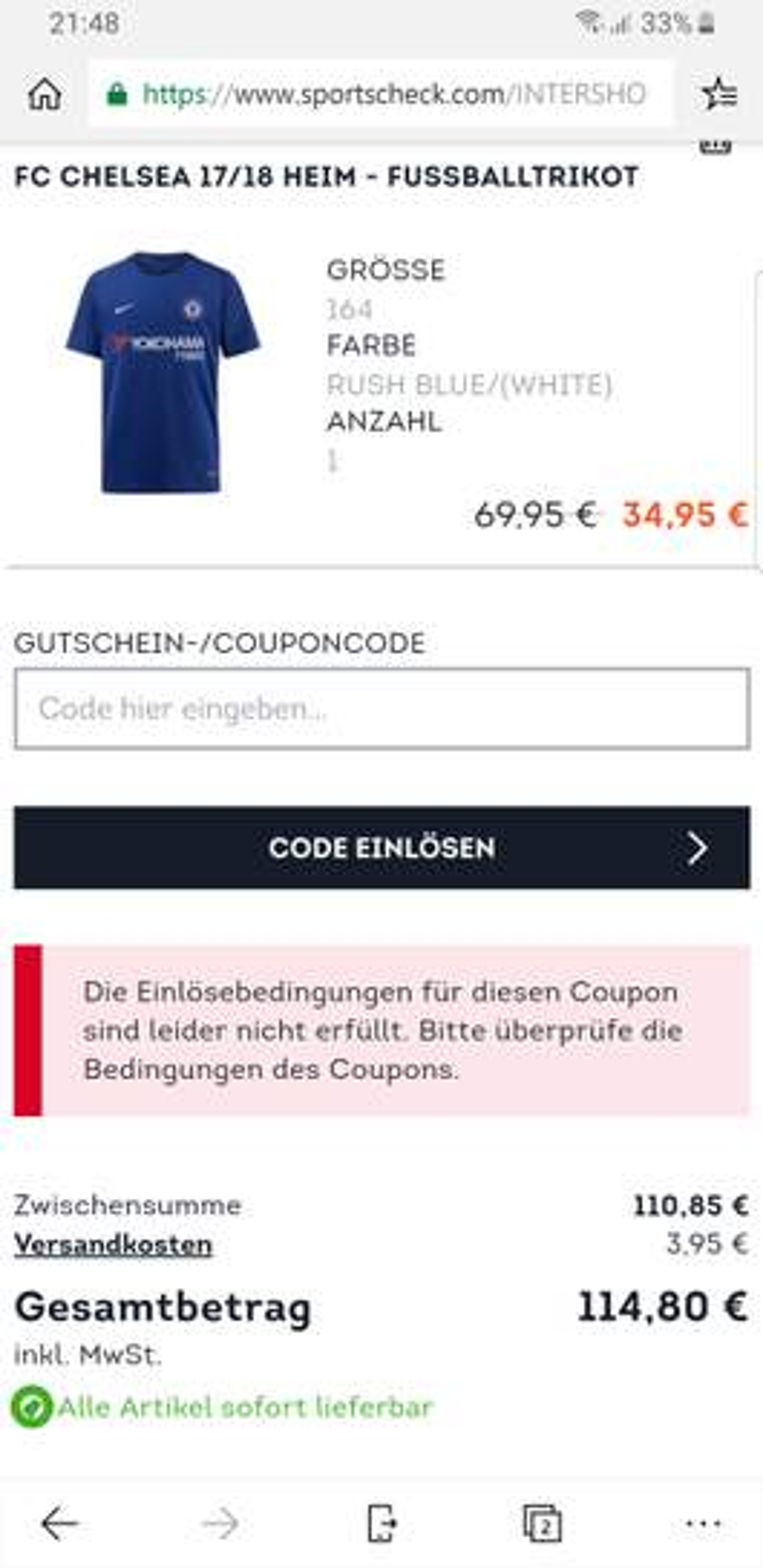 SportScheck] 20% Rabatt on top auf den Sale und Neuware im
