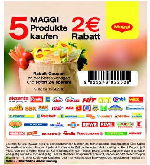 kaufland bundesweit maggi magic asia instant nudel snack 0 44 mit coupon 5 packungen nur f r. Black Bedroom Furniture Sets. Home Design Ideas