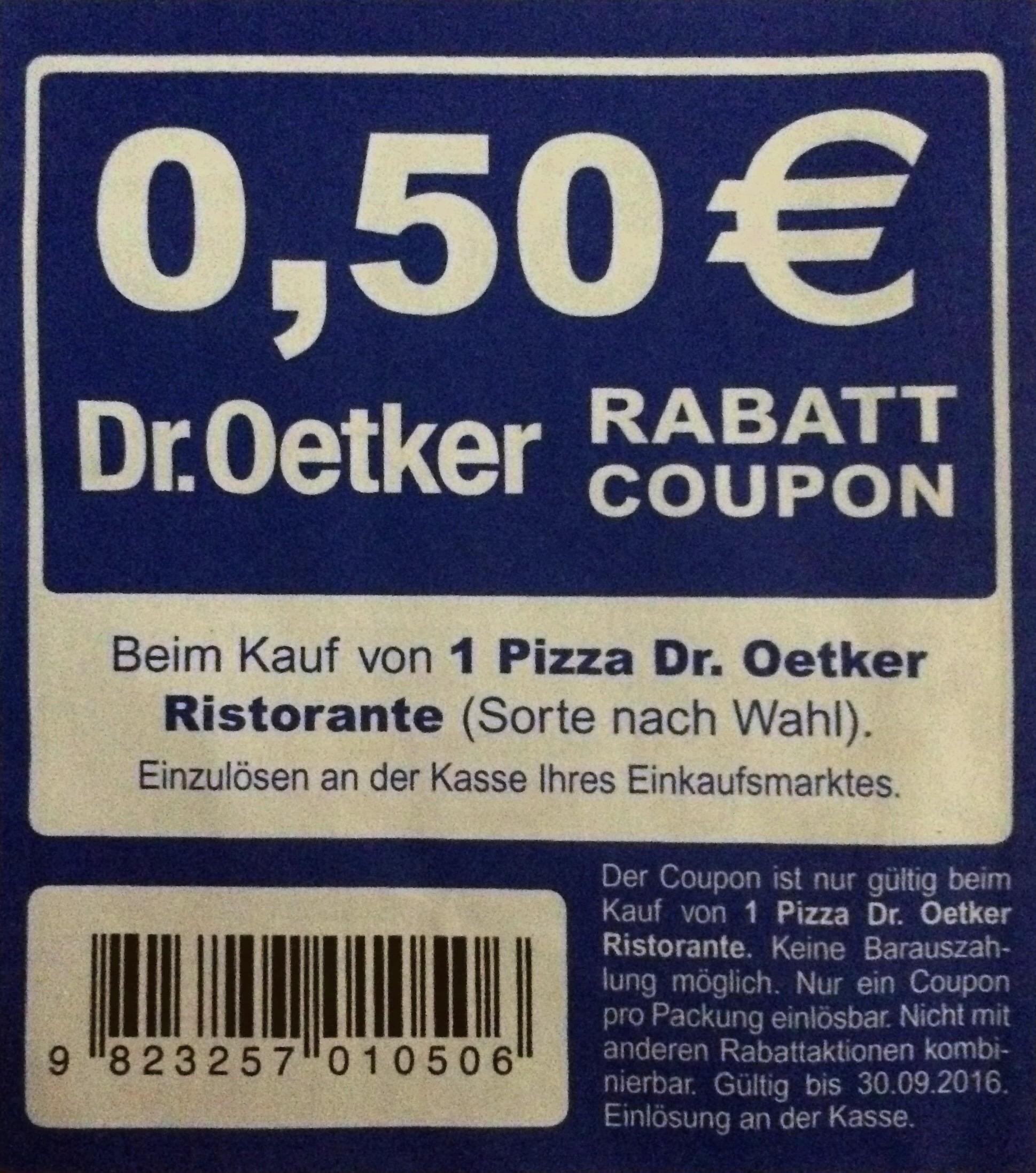 dr oetker ristorante pizza 0 50 rabatt coupon. Black Bedroom Furniture Sets. Home Design Ideas