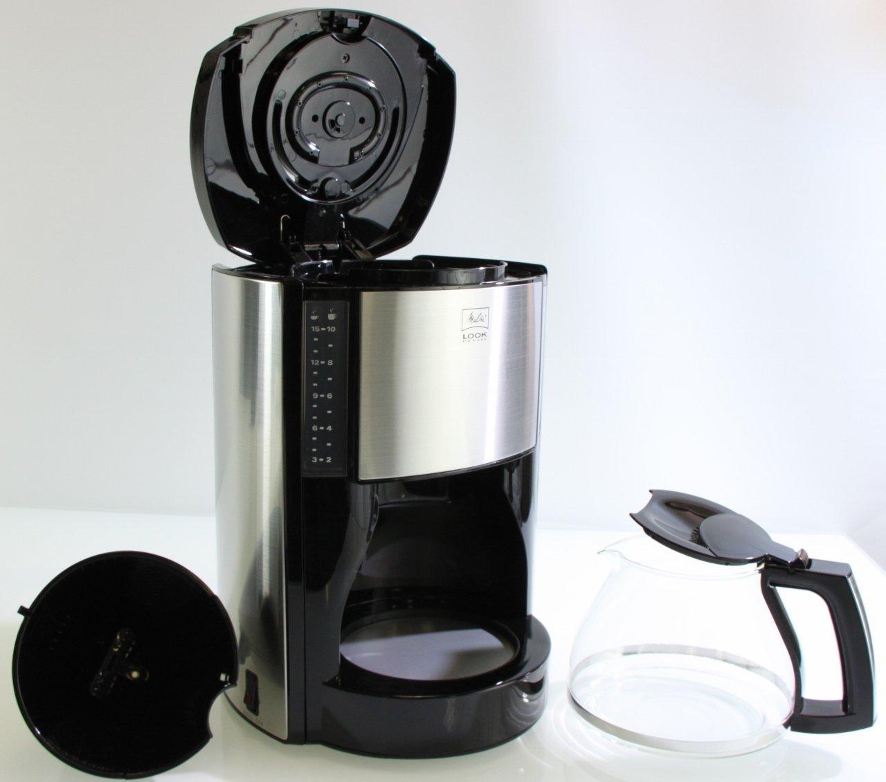 blitzangebot melitta look de luxe kaffeemaschine autom abschaltung tropfstopp schwarz. Black Bedroom Furniture Sets. Home Design Ideas