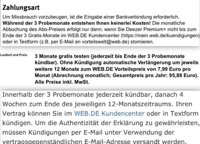 20 Jahre Webde Deezer Premium 3 Monate Gratis Danach Ab 599