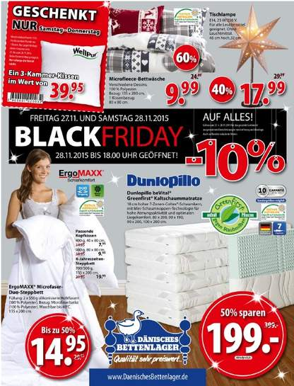 d nisches bettenlager black friday 10 auf alles. Black Bedroom Furniture Sets. Home Design Ideas