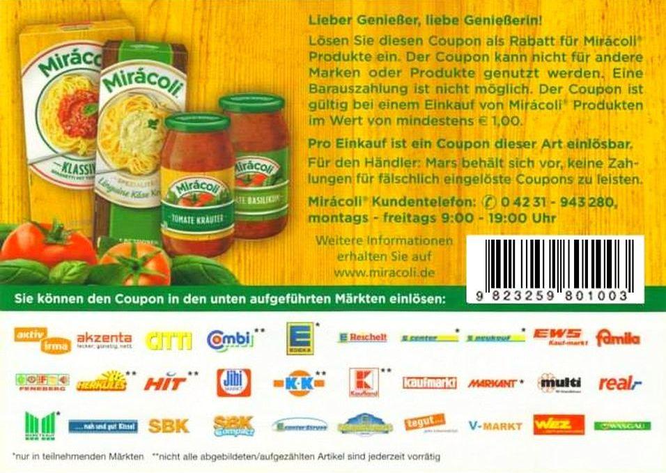 Gratis supermarkt coupons