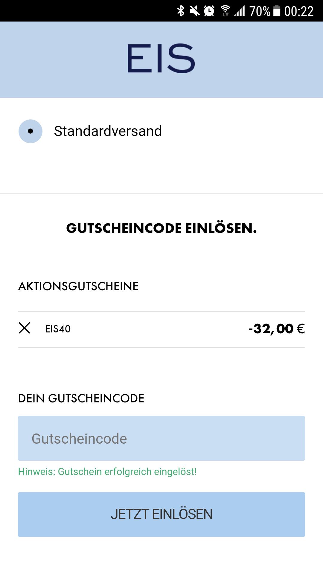 Gutschein Code Eis
