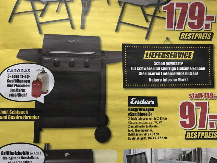 Enders Gasgrill San Diego 3 : Enders grill robuste gas und holzkohlegrills und campinggrills