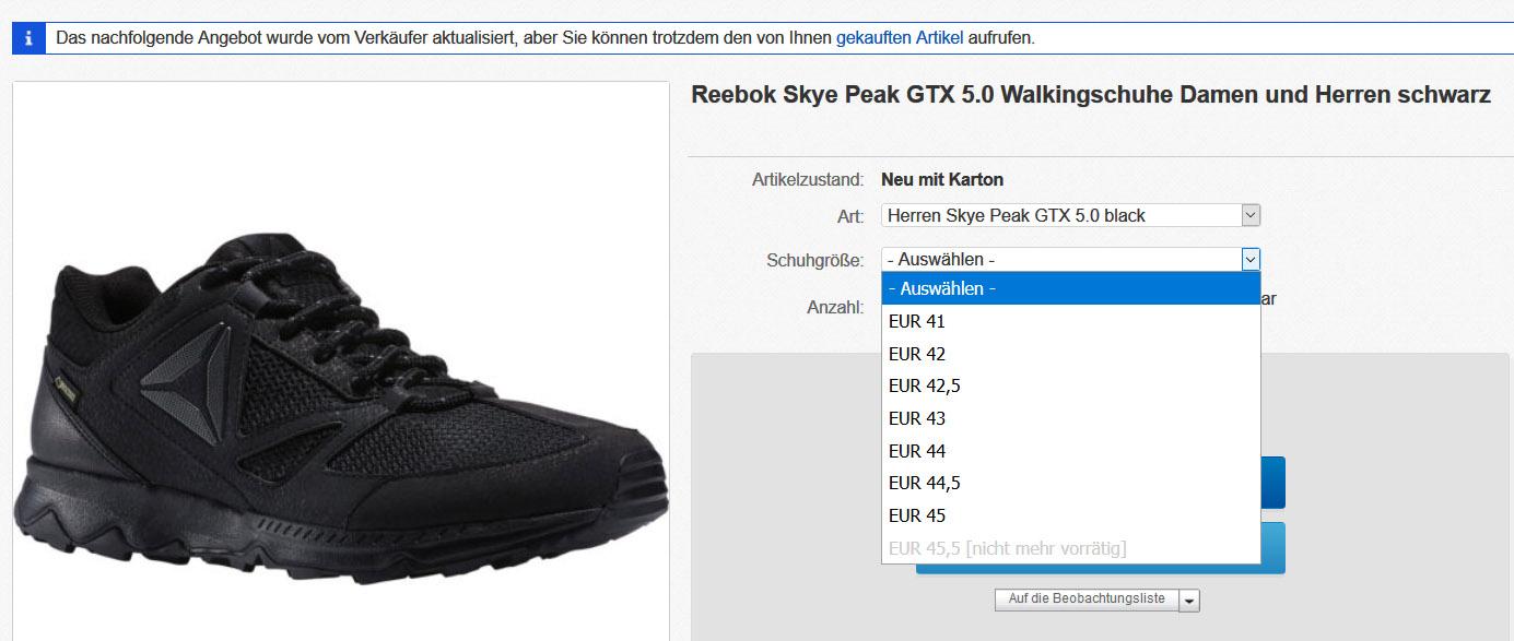 REEBOK Damen Walkingschuhe SKYE PEAK GTX 5.0
