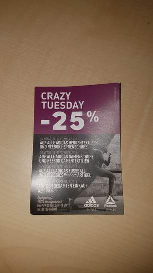 adidas outlet crazy tuesday 2019