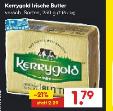 kaufland frau antje beste butter 250g f r 1 59. Black Bedroom Furniture Sets. Home Design Ideas