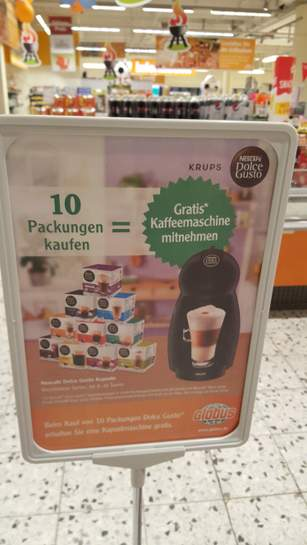 lokal globus wiesbaden und gensingen 10x dolce gusto kapseln kaufen gratis maschine. Black Bedroom Furniture Sets. Home Design Ideas