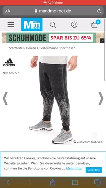 adidas Herren Z.N.E. Pulse Jogginghose Schwarz