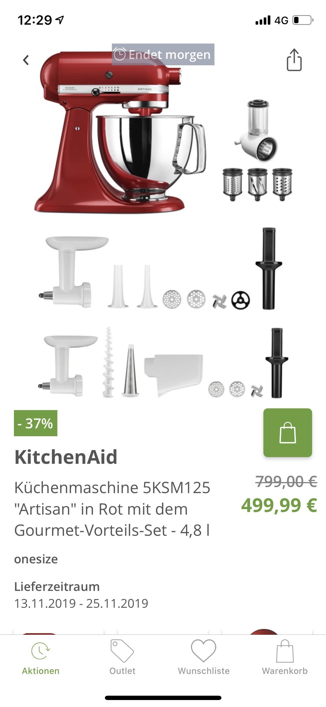 Kitchenaid Artisan Küchenmaschine mit Starter Kit Backen ...