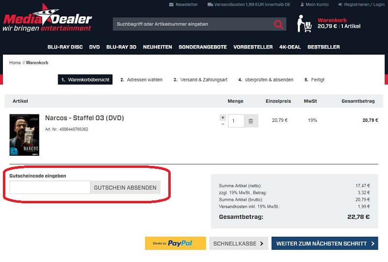 Media-Dealer.de Gutschein