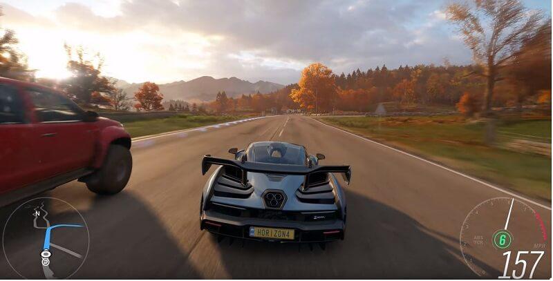 4K Monitor Gaming Forza Horizon 4