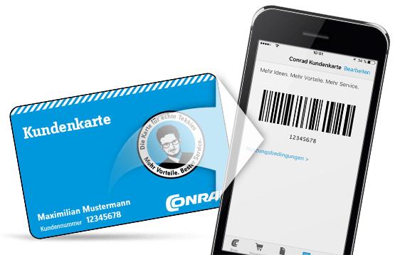 conrad kundenkarte app