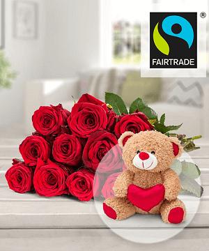 Valentins Rosen zum Valentinstag