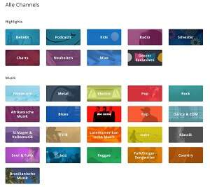 Deezer Channels