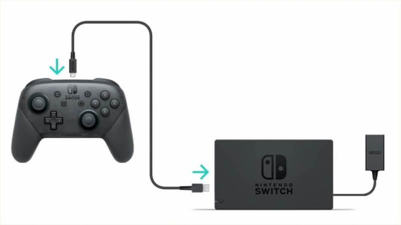 nintendo switch pro controller aufladen