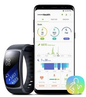 Samsung Galaxy S8+ Smartwatch Samsung Health
