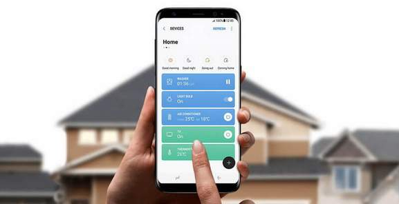 Samsung Galaxy S8+ Smart Home Connect App