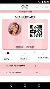 Hunkemoeller App und MemberCard