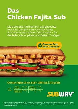 Subway fettarm