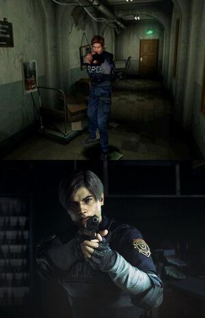 Resident Evil 2 Remake Vergleich