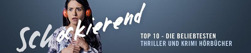 Audible Thriller Krimi Bestseller Top 10