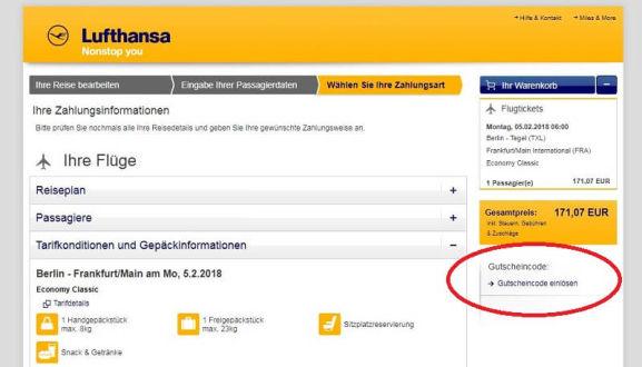 Lufthansa LH Gutschein