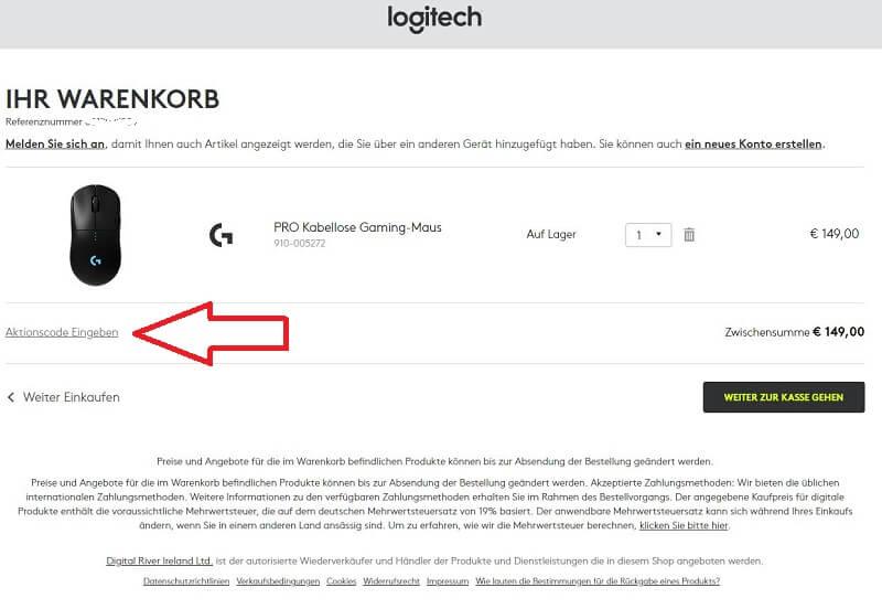 Logitech Store Gutschein