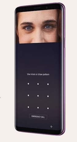 samsung galaxy s9 plus iris scan