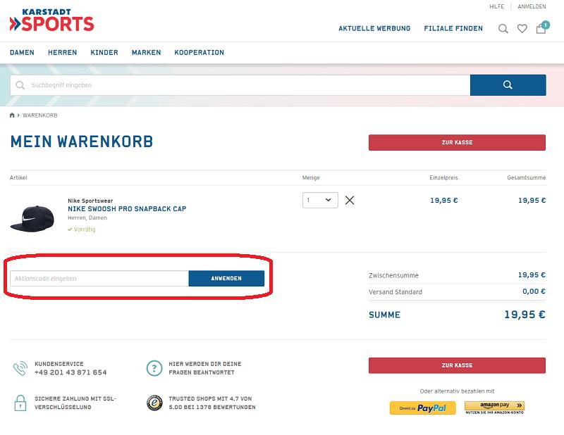 2c0e42d454072b Karstadt Sports Gutschein ⇒ 10% Rabatt