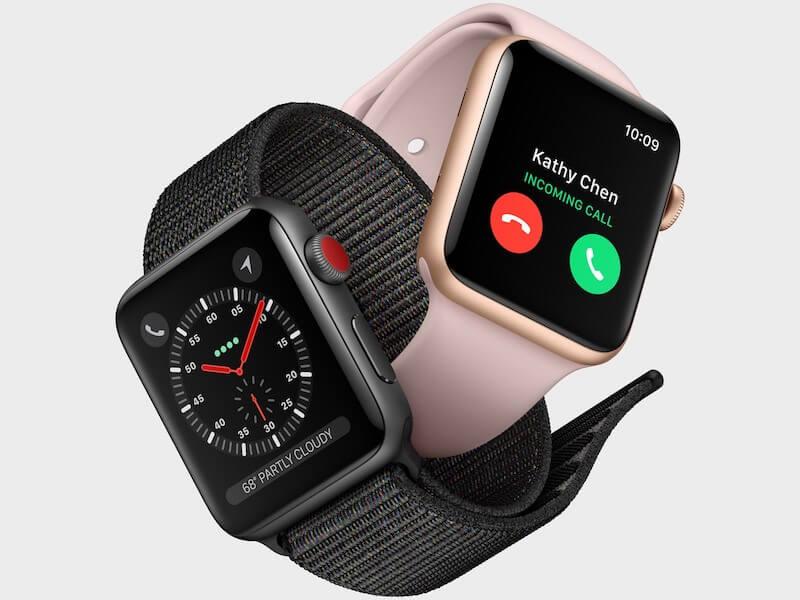 2 apple watch 3 ineinander verschlungen