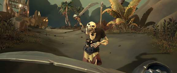 sea of thieves skelett