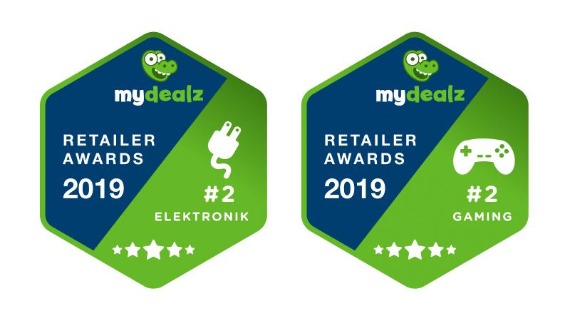 badges zu mydealz retailer awards 2019 für media markt