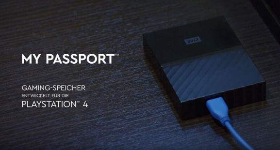 Western Digital Store My Passport PlayStation 4