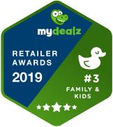 badge zu mydealz retailer awards 2019 für mytoys